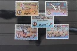 Bahrain 346-350 ** Postfrisch Olympia Los Angeles 1984 #RH940 - Bahrein (1965-...)