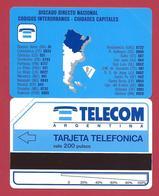 D6 200 U Argentina Map Telecom Argentina - 1992 - URMET Neuve Mint - Argentine