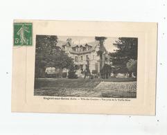 NOGENT SUR SEINE (AUBE) VILLA DES GRAVIERS VUE PRISE DE LA VIEILLE SEINE (HOMME ET CHIEN) - Nogent-sur-Seine