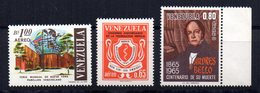 Serie Nº   A-858/9 + A-862    Venezuela - Venezuela