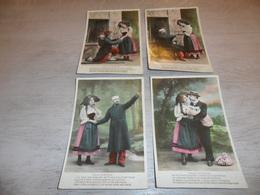 Couple ( 20 )   Koppel   Serie Van 4 Postkaarten - Serie De 4 Cartes Postales -  Soldat  Soldaat - Couples
