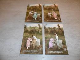 Couple ( 21 )   Koppel   Serie Van 4 Postkaarten - Serie De 4 Cartes Postales - Couples