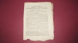 COLLEGE DE FRANCE - ASSEMBLEE PUBLIQUE - JOURNAL DE PARIS NOVEMBRE 1792. - Zeitungen - Vor 1800