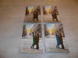 Couple ( 22 )   Koppel   Serie Van 4 Postkaarten - Serie De 4 Cartes Postales - Couples