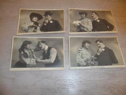 Couple ( 23 )   Koppel   Serie Van 4 Postkaarten - Serie De 4 Cartes Postales - Couples