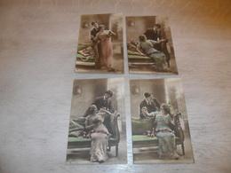 Couple ( 24 )   Koppel   Serie Van 4 Postkaarten - Serie De 4 Cartes Postales - Couples