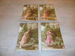 Couple ( 25 )   Koppel   Serie Van 4 Postkaarten - Serie De 4 Cartes Postales - Couples