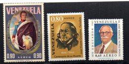 Serie Nº  A-923/4+ A-941  Venezuela - Venezuela