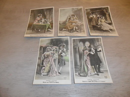 Couple ( 27 )   Koppel   Serie Van 5 Postkaarten - Serie De 5 Cartes Postales - Manon Lescaut - Couples