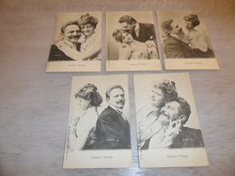 Couple ( 28 )   Koppel   Serie Van 5 Postkaarten - Serie De 5 Cartes Postales - Couples