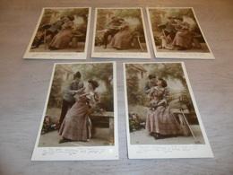 Couple ( 29 )   Koppel   Serie Van 5 Postkaarten - Serie De 5 Cartes Postales -  Soldat  Soldaat  Militair - Couples