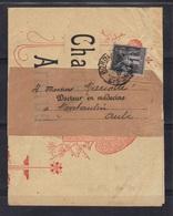 St Loubès (Gironde) : Imprimé Sous Bande, Ch. Arnauld, Domaine De Jean Pan, 1900 - Marcophilie (Lettres)