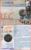 SLOWAKIJE - COINCARD 2 € 2015 BU - 200e VERJAARDAG GEBOORTE LUDOVIT STUR - Slovaquie