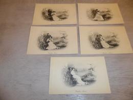 Couple ( 33 )   Koppel   Serie Van 5 Postkaarten - Serie De 5 Cartes Postales - Genre Viennoise - Couples