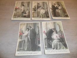 Couple ( 34 )   Koppel   Serie Van 5 Postkaarten - Serie De 5 Cartes Postales - Couples