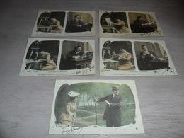 Couple ( 39 )   Koppel   Serie Van 5 Postkaarten - Serie De 5 Cartes Postales - Couples