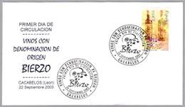 VINO DENOMINACION DE ORIGEN BIERZO - WINE. SPD/FDC Cacabelos, Leon, 2003 - Vinos Y Alcoholes