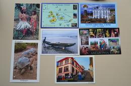 Ecuador Lot 7 Cp Neuves Indiens Tortue Sanctuaire Galapagos Amazone Canoe Guayaquil  Equateur - America