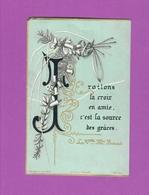 Canivet Image Pieuse Ancienne Traitons La Croix En Amie Holy Card - Images Religieuses
