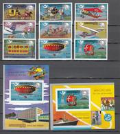 Khmer Cambodia 1975,9V+2 Blocks,IMP,centenario De La UPU 1874-1974,Union Postale Universelle,MNH/Postfris(L3338) - UPU (Union Postale Universelle)