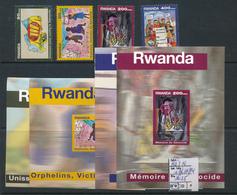RWANDA COB 1411/14 + BL111/14 MNH - Rwanda