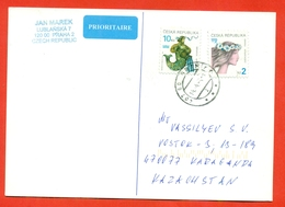 Zodiac Signs. Czech Republic 2004. Postcard  Is Really Past Mail. Airmail. - Astrology