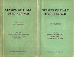 L137  - TCHILINGHIRIAN – STAMPS OF ITALY USED ABROAD – 6 VOL - Colonias Y Oficinas Al Extrangero