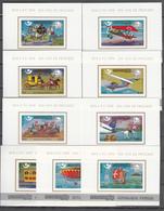 Khmer Cambodia 1975,9 Blocks,IMP,centenario De La UPU 1874-1974,Union Postale Universelle,MNH/Postfris(L3340) - UPU (Wereldpostunie)
