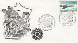 Enveloppe Tour De France Cycliste 23/7/1978 PARIS - Cachet Noir  75 è Anniversaire - Radsport
