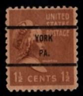 "USA Precancel Vorausentwertung Preo, Locals ""YORK"" (PA). - United States"