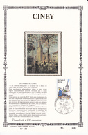 CINEY - Feuillet Or Et Soie N°160 - Timbre N°1950 - FDC  - 1979 - Luxusblätter