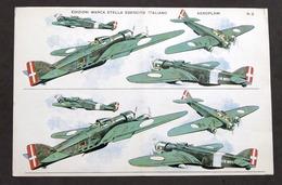 Soldatini Di Carta Marca Stella N° 8 - Esercito Italiano - Aeroplani - Anni '30 - Altri
