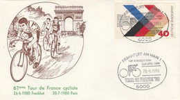 Enveloppe Tour De France Cycliste Frankfurt Am Main 28/6/1980 - Wielrennen