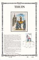 THUIN - Feuillet Or Et Soie N°063 - Timbre N°1948 - FDC  - 1979 - Luxevelletjes