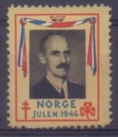 NORGE/NORWAY:1946: Vignette / Cinderella : CHRISTMAS,NOËL,JULPOST, BIENFAISANCE,CHARITY,KING ... , - Service