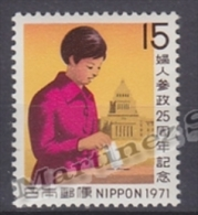 Japan - Japon 1971 Yvert 1003, 50th Ann. Womens Rights To Vote - MNH - Nuevos