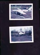 2 Photos Anciennes Avion De Chasse - Aviation