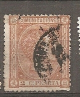 1875   Yv. N° 153   (o)  2c   Alphonse XII   Cote  10 Euro  D    2 Scans - Usati