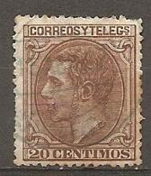 1879   Yv. N° 186     (o)   20c   Alphonse XII   Cote  15 Euro  BE R  2 Scans - 1875-1882 Kingdom: Alphonse XII