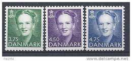 Danemark 1991 N°996/998  Neufs Reine Margrethe - Danemark