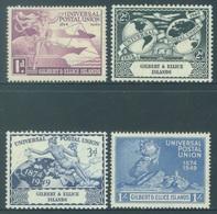 GILBERT ELLICE -  MVLH/* - 1949 - UPU - Yv 54-57 -  Lot 18269 - VERY VERY LIGHT HINGED NEARLY MNH/** - Îles Gilbert Et Ellice (...-1979)