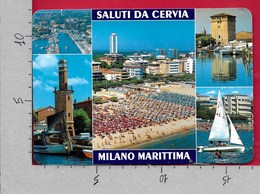 CARTOLINA VG ITALIA - Saluti Da CERVIA (RA) MILANO MARITTIMA - Vedutine Multivue - 12 X 17 - ANN. 1997 - Saluti Da.../ Gruss Aus...
