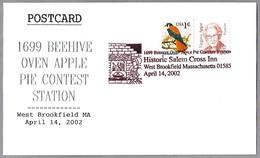 1699 BEEHIVE OVEN APPLE PIE CONTEST - Historic Salem Cross Inn. West Brookfield MA 2002 - Alimentación