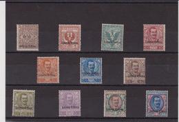 376 Eritrea ** 1903 – Soprastampati Colonia Eritrea N. 19/29. Cert. Biondi. Cat. € 3750,00. SPL - Eritrea