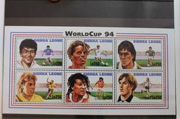 Sierra Leone 2150-2155 ** Postfrisch Als Kleinbogen, Fußball WM 1994 #RL380 - Sierra Leone (1961-...)