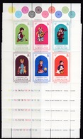 Gibraltar, 1975, 328/31, Christmas. MNH **,10  Kleinbögen Platte Nr. :1A,B,C,D,E,F,G.H.I,J. Komplett - Gibraltar