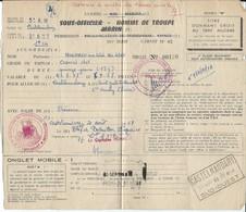 Permission - Bataillon De Tirailleurs Tunisiens  Du 5 ° R.M De Castelnaudary 1958 - Boutons