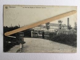 GENAPPE «LE PONT DES ANGLAIS ET L'ANCIENNE SUCRERIE  «Panorama,animée (1908)Édit E.P.DOHET,Genappe(NELS). - Genappe