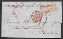 1851 - COLONIES -  NEW ORLEANS ( NOUVELLE ORLEANS ) Vers BORDEAUX - Contenu VINS Du Séguineau De Lognac - Postmark Collection (Covers)