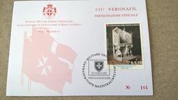 SMOM 2018 Veronafil  PARTECIPAZIONE UFFICIALE - - Sovrano Militare Ordine Di Malta